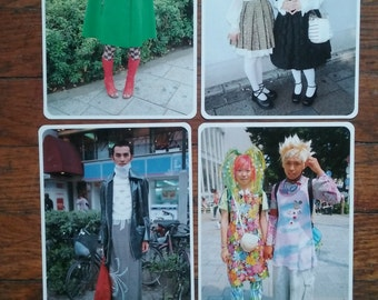 FRUITS Japanese Street Fashion Set of  Forty-One  Post Cards Lolita Visual Kei Punk Goth Hippie