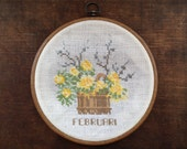 Vintage Frame with Hand Embroidery Purple Floral Embroidered Wall Hanging Round  hand embroidery frame