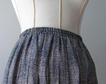 Vintage Pleated Skirt, Medallion Pleated Skirt, Womens Skirt, 6