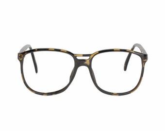 Playboy 4668 Vintage amber & black double bridge aviator sunglasses - eyeglasses frames, NOS 1980s