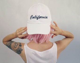 California Cursive Baseball Hat