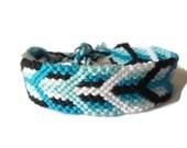 Friendship Bracelet, Macrame, Woven Bracelet, Wristband, Knotted Bracelet - Wide Arrow Chevron Bracelet