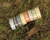 """Peach, Mint, Gold Washi Tapes - 5/8"""" x 5.5 yd (15 mm x 5 m) - Tree in Art"""