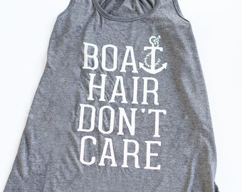 Boat Hair Don't Care Bella Tank
