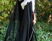 "Yara Yosif ""Dana"" Black and white Kaftan dress Eid henna abaya caftan Ramadan"