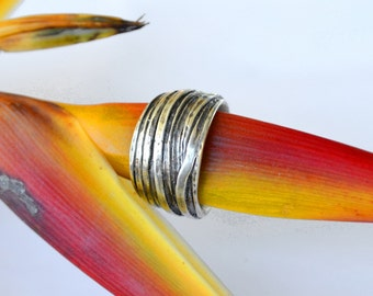 Driftwood Ring in Sterling Silver - Oxidised - Nature Inspired - Organic - Handmade in Australia