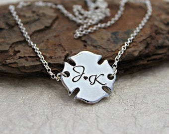 Firefighter Wife Necklace - Firefighter Wife Jewelry - Firefighter Jewelry -  Firefighter Girlfriend - Firefighter Mom - Fire Wife Jewelry