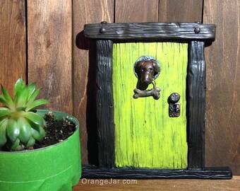 Fairy Door with Dog & Bone Knocker