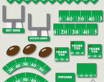 Football Party Printables, Football Birthday Party, Football Concessions, Football Banner, Sports Party, Football Decor, Football Printables