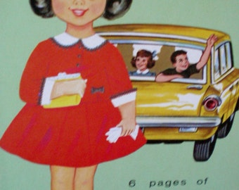 Vintage 1963  Paper Dolls CITY GIRL Uncut by Lowe ** Epsteam