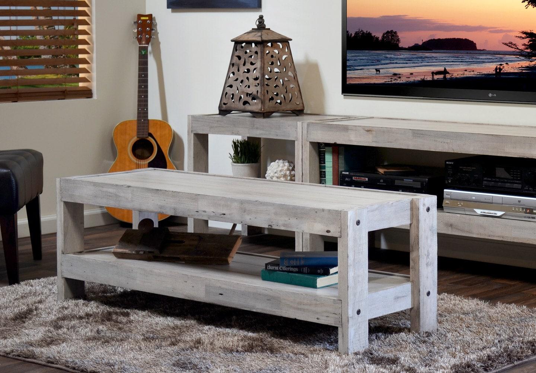 Beach House Coffee Table Repurposed Wood presEARTH
