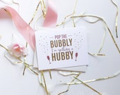Cute Will You Be My Bridesmaid Cards - Bridesmaid Proposal - Maid of Honor - Pop The Bubbly I'm Getting a Hubby | Dakota, Pop The Bubbly