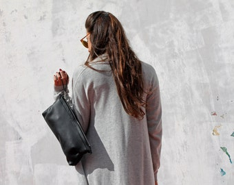 Leather clutch, black leather clutch, clutch bag, Leather bag, leather purse, women handbag, black clutch bag, clutch purse, evening handbag