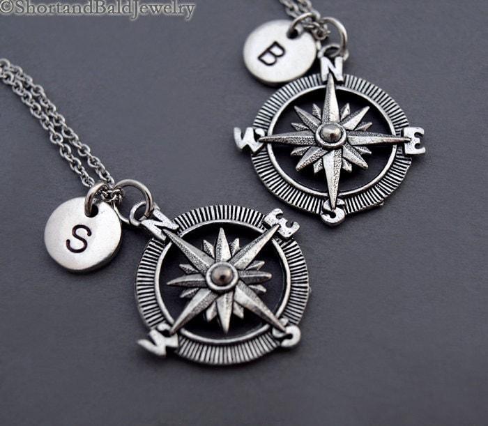 kompass halskette kompass charm schmuck silber kompass. Black Bedroom Furniture Sets. Home Design Ideas