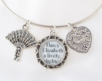 Elizabeth Bennet Bracelet – Pride and Prejudice – Jane Austen – Pride and Prejudice Jewelry – Pride and Prejudice Bracelet