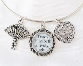 Pride and Prejudice Bracelet – Pride and Prejudice – Jane Austen – Pride and Prejudice Jewelry – Pride and Prejudice Bracelet