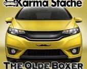 "12"" Car Mustache Vinyl Decal Sticker - Style; Olde Boxer - Color; Black  -  Karma Stache: Your #1 Source for Car Mustaches!"