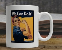 J. Howard Miller Women We Can Do It Westinghouse Electric War Poster New Vintage art retro style advertisement  gift tea coffee mug E1245