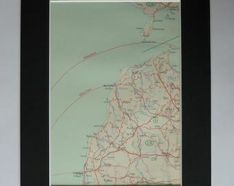 1937 Antique Map of Ventspils, Available Framed, Latvian Art, Latvia Gift, Windau Decor, Old Kuldiga Picture, Liepāja Wall Art, Libau Map