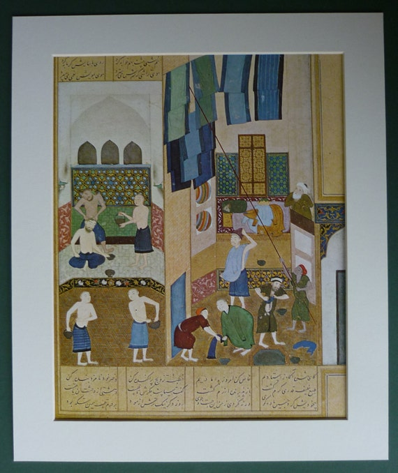 Islamic Golden Age Print Of Caliph Harun Al Rashid And The