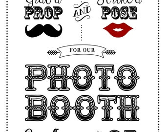 Photo Booth- Custom Wedding or Event Sign - Digital File Only