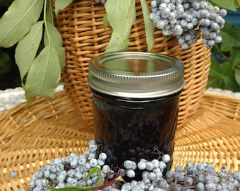 Elderberry Jam, 8 oz. jarHandcrafted, small batch, hand picked elderberries, Oregon, Pacific Northwest
