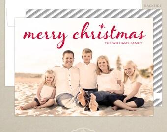 FREE SHIPPING!  Christmas Family Photo Card - Holiday Card - Christmas Card - Personalized - Photo Christmas Card - Digital or Printed
