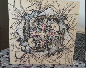 Mandala painting 8 x 8