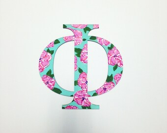 greek letters wooden custom hand painted