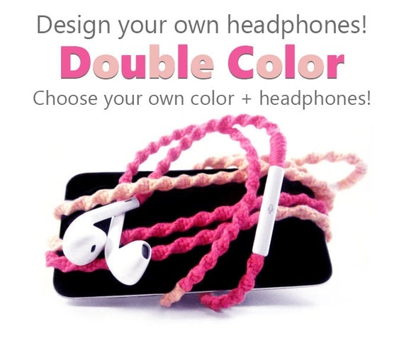 Design Your Own Headphones - iPhone 7 Lightning Earpods, Android Samsung Earphones - Choose Your Own Colors & Earbuds - Custom Tangle Free