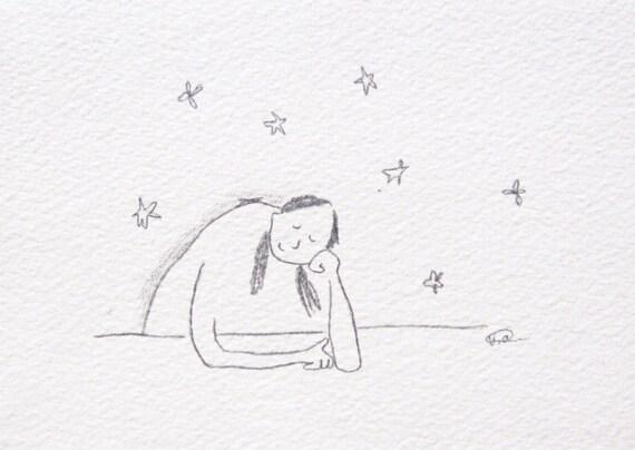 minimalist pencil doodle