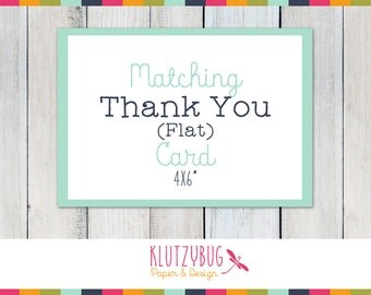 Thank You Card Flat