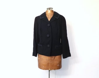 Vintage 1940s Suitmaster Classics Jacket Navy Blue Blazer 1950s Wool Coat 40s Travel Suit Coat Fall Coat Cropped Suit Jacket 1950s Blazer