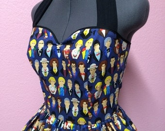Many Faces of Doctor Who Dress