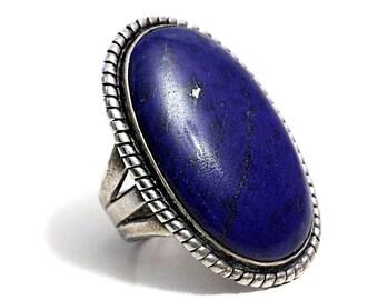Lapis Lazuli Ring blue Artisan Silver Lapizlazuli Lapiz