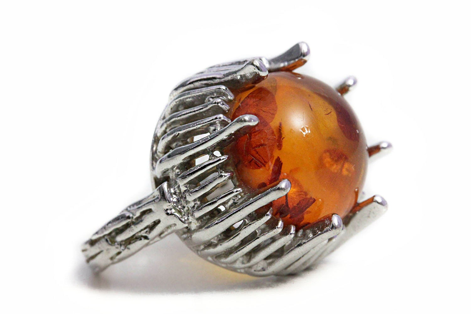 Amber the stone engagement rings baltic silver ring for Amber stone wedding ring
