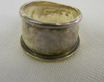 Sterling Silver 925 Pretty Wide Band Ring Size 5 3/4 #5977