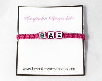 Custom bracelet | Name bracelet | Personalised bracelet | Initial bracelet | Beaded bracelet | Friendship bracelet | Stackable bracelets