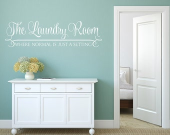 Laundry Room Vinyl Wall Quotes Adorable Removable Wall Decal  Etsy Decorating Inspiration