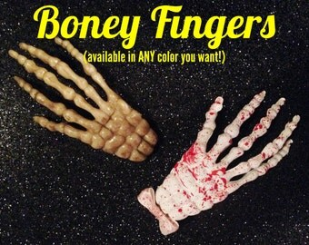 Boney Fingers Skeleton Hand Halloween Clip