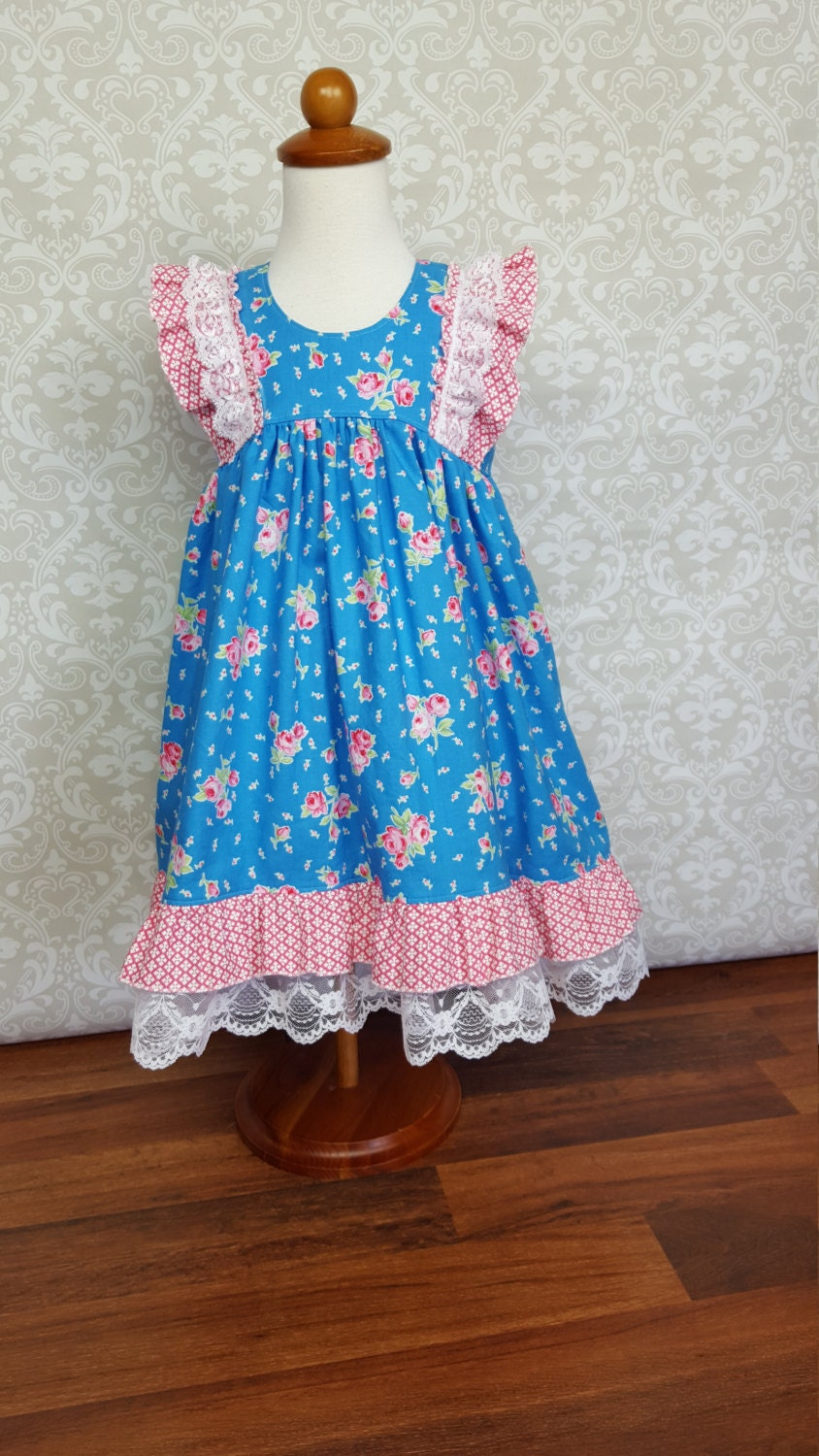 Easter Dress Girls toddler dress sizes 3 by AMDesignsBoutique