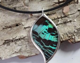 Leaf Green Sunset Necklace