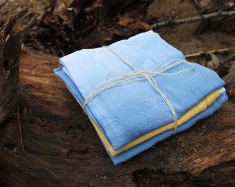 Dip-Dyed Flour Sack Tea Towels