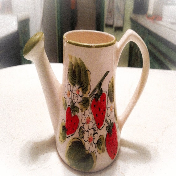 Vintage Strawberry Pitcher or  Watering Pitcher
