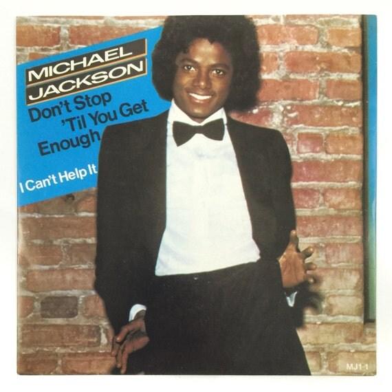 Vintage 80s Michael Jackson Don't Stop 'Til You Get Enough Red Colored Import Vinyl 45-RPM 7-inch Single