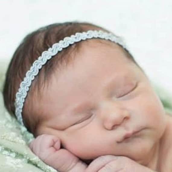 Baby Headband, Baby Girl Headband, Silver Headband, Silver Halo Headband, Newborn Headband, Infant Headbands, Headbands Wedding
