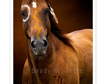 "Poster of ""Ready..."" Sioux War Pony Portrait"
