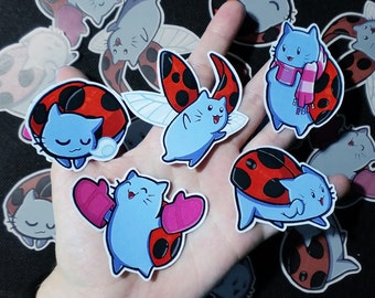 Cute CATBUG stickers. Bravest warriors stickers.