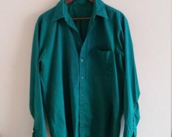 Vintage Green Mechanic Shirt