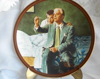 The Ones We Love Series by Knowles China // Norman Rockwell // Plates // Art Scenes from the 1920s